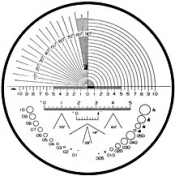 O6102 Reticle Nr.2 for measuring magnifier x 10