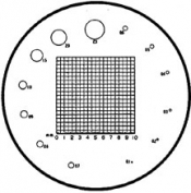 O6107 Reticle Nr.7 for measuring magnifier x 10