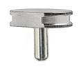SEM pin stubs, Al, 12,7 mm diameter top, with flat, pin l=9,5 mm, 100 ks/bal