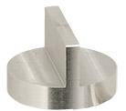 HITACHI ᴓ25 x 16mm M4 angled SEM sample stub,  double 90 degrees, Al, 1 ks/bal