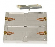 EM-Tec G2 twin geological thin section holder for two petrographic slides up to 47x27mm, pin, 1 ks/bal