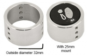 EM-Tec R4 adapter sleeve for ᴓ25mm/1inch metallographic mounts, for use with EM-Tec R4 top reference holder, 1ks