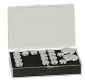EM-Tec SB28 medium size clear styrene box for 28 standard ᴓ12,7mm pin stubs