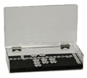 EM-Tec SB153 high capacity clear styrene box for 153 standard 12,7mm pin stubs