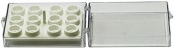 EM-Tec SC12 clear styrene box for 12xᴓ9,5mmJEOL/ᴓ12,5mm JEOL or 12 pin stubs
