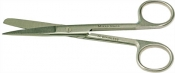 EM-Tec H13 Microscopy lab scissors, sharp/blunt tips, straight, 130mm, 410 st. steel, 1ks