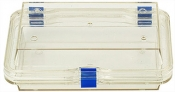 EM-Tec M64 Clear membrane storage box with hinge and clasp, 160 x 100 x 50 mm, 1 ks/bal
