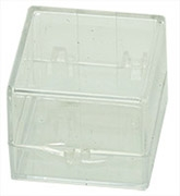 Micro-Tec C12 clear styrene plastic hinged storage boxes, 32x32x25mm, 12 ks/bal