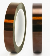 Single sided polyimide (Kapton) tape, 0,06mm thickness, 12mm x 33m
