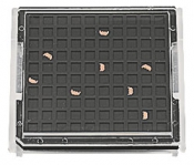 EM-Tec FSB100S FIB lift-out grid storage box with single clip