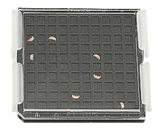 EM-Tec FSB100D FIB lift-out grid storage box with pair of brand clips