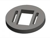 Ti sample holder disc, ᴓ3x0,3mm,  0,6x1,8mm hole