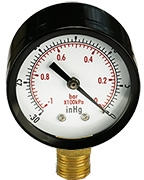 Micro-Tec Quick-check vacuum gauge, 1/4inch NPT connection