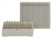 Micro-Tec M25W slide storage box for 25 standard 75x25mm slides, white