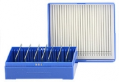 Micro-Tec M25B slide storage box for 25 standard 75x25mm slides, blue