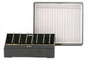 Micro-Tec M25K slide storage box for 25 standard 75x25mm slides, black
