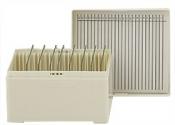 Micro-Tec M25WL slide storage box for 25 large 75x50mm slides, white