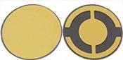 EM-Tec 6 Mhz / ᴓ14mm, Gold Electrode Quartz Crystals for thickness monitors/controllers, 10 ks/bal