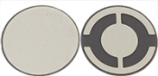 EM-Tec 5 Mhz / ᴓ12,5mm, Silver Electrode Quartz Crystals for thickness monitors/controllers, 10 ks/bal