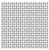 Micro-Tec Precision Wowen Stainless Steel Cloth, 250 mesh,  15 x 15 cm