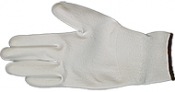 EM-Tec ESD safe PU coated knitted nylon gloves, white, size L, 1 pair