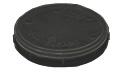 Micro-Tec Carrier tray, 1 inch/25 mm diameter, anti-static black polypropylene, 5 ks/bal