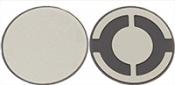 EM-Tec 5 Mhz / ᴓ 12,5mm, Gold Electrode Quartz Crystals for thickness monitors/controllers, 10 ks/bal