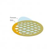 EM-Tec Formvar support film on 50 square mesh grid, Cu, 100 ks/bal