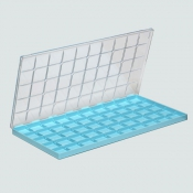 G27750B Storing Plastic Box with 50 compartments, 32x32x9,5mm each
