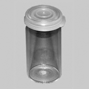 AGB794 Glass vials, 15 ml,  with lid, cca 162 ks/bal