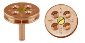 EM-Tec TG4C TEM grid holder for up to 4 TEM grids, ᴓ18x3,2mm, copper, pin, 1ks/bal