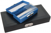 2308-6 PELCO® GEOSLIDES Petrographic Slide Storage Box, 25 slides, black