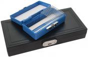 2310-6 PELCO® GEOSLIDES Petrographic Slide Storage Box, 100 slides, blav