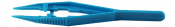 Value-Tec 401.PS disposable plastic tweezers, blue, pointed serrated tips, 20ks/bal