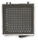 Micro-Tec GB33AS gel carrier box, clear lid/anti-static black ABS base, 95x85x12mm, 5 ks/bal