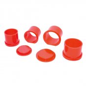 AGB8836-125 2-Part Plastic Moulds 1,25 inch Diameter (Pack of 10)