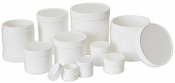 140-58 Round robust polypropylene containers with screw on cap ᴓ88mm x h=84mm, 5 ks/bal