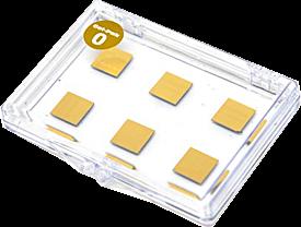 Pozlacené křemíkové destičky a plátky (Gold coated silicon wafers and chips)